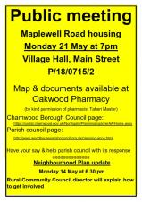 Public meeting re Maplewell Housing