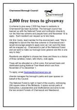 Free trees - choice of 2 from 3