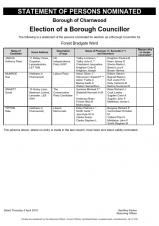 Charnwood Borough Council elections - nominees