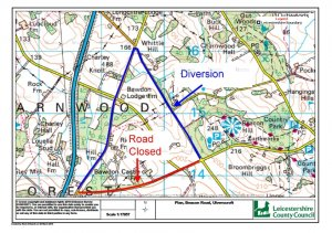 Road closures 28 May x 5 days 0900-1500 after Beacon Road