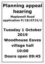 Planning Appeal Hearing