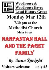 Nanpantan Hall & the Paget family